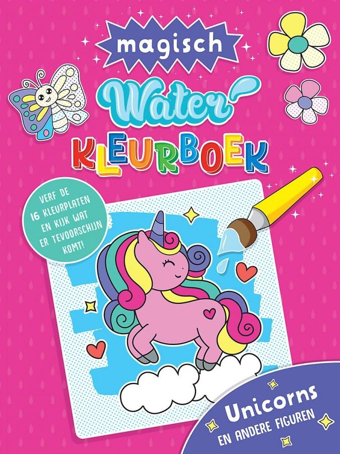 Waterkleurboek Unicorns en andere figuren