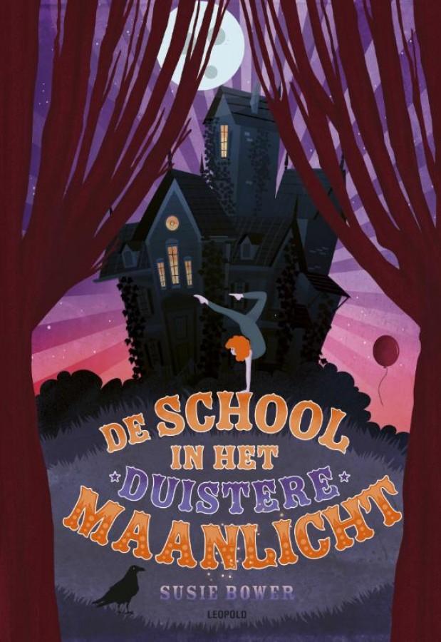 De school in het magische maanlicht