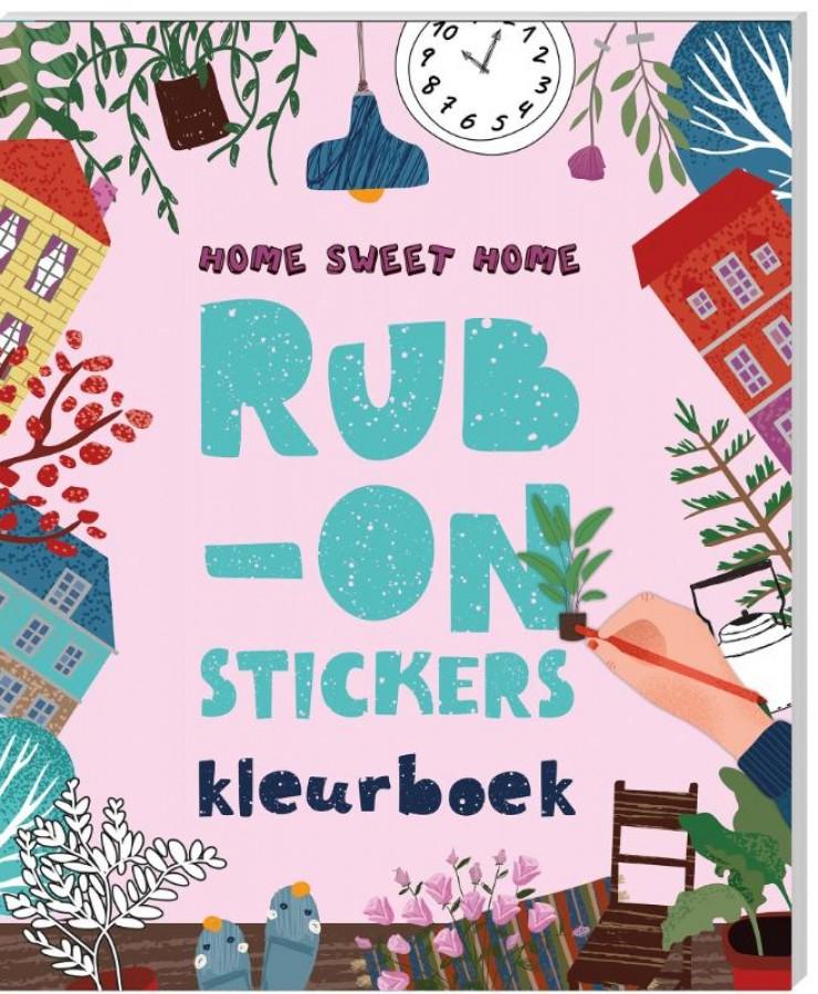 Rub-on-stickers Kleurboeken - Home Sweet Home